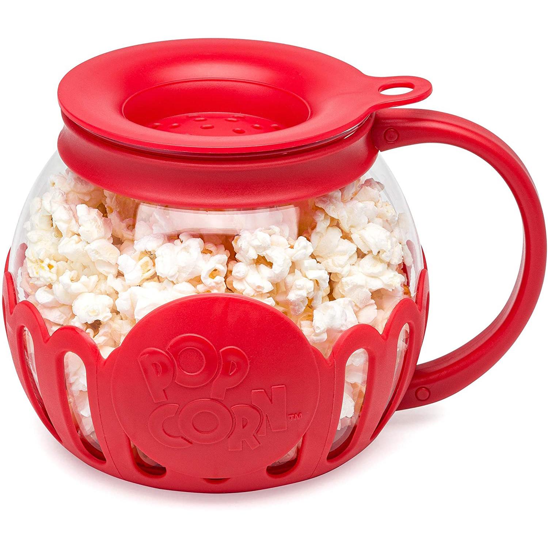Ecolution Original Microwave Micro-Pop Popcorn Popper in red