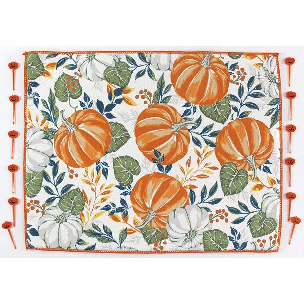 pumpkin print dish drying mat