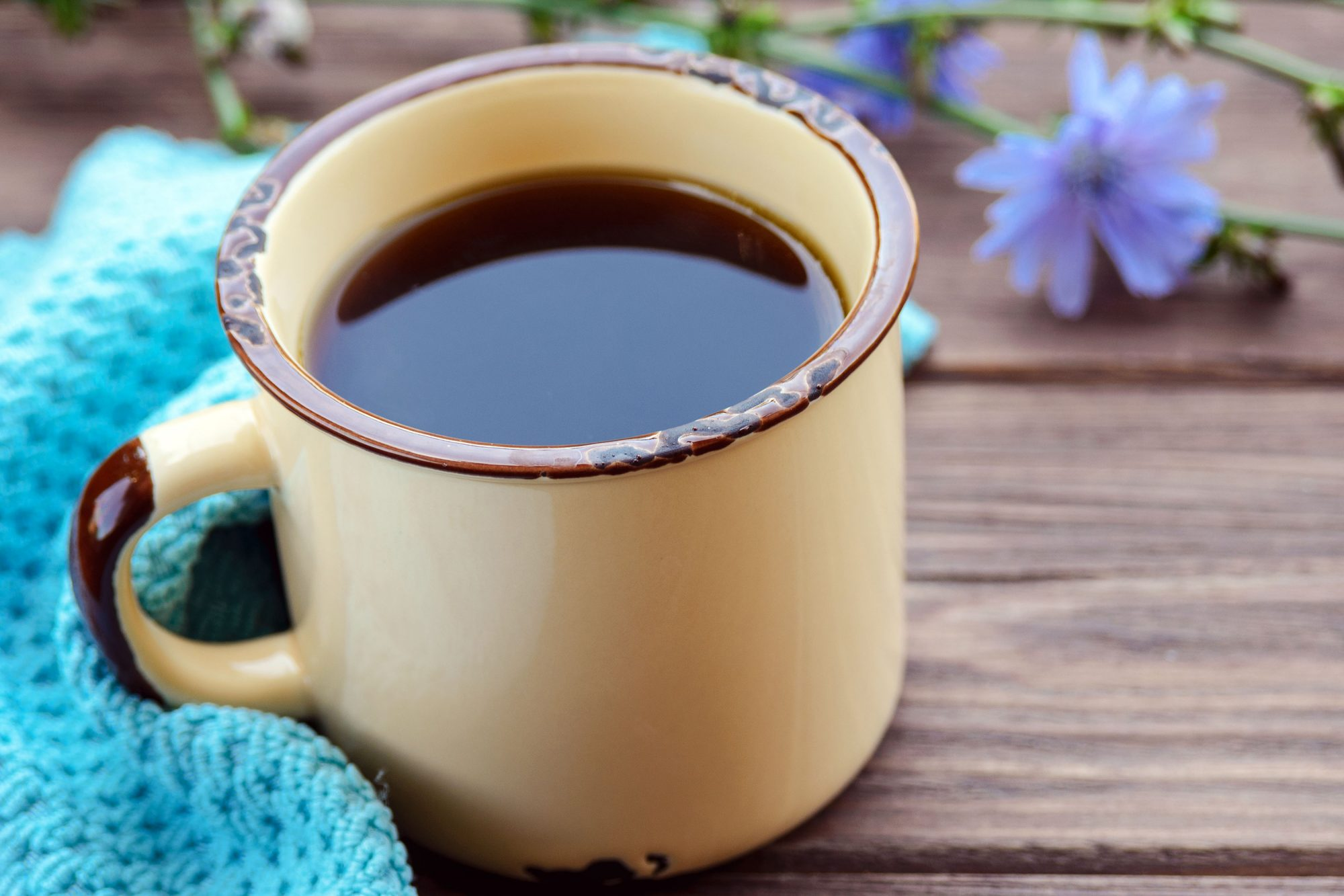Chicory root in a mug