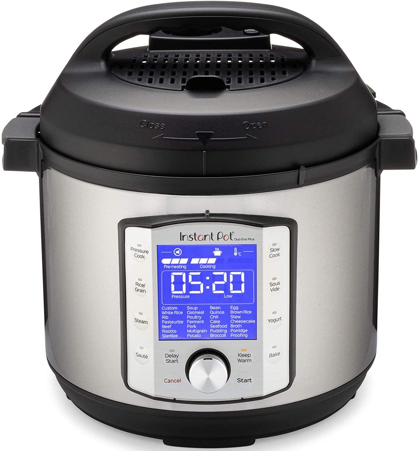Instant Pot Duo Evo Plus Pressure Cooker 9 in 1, 6 Qt