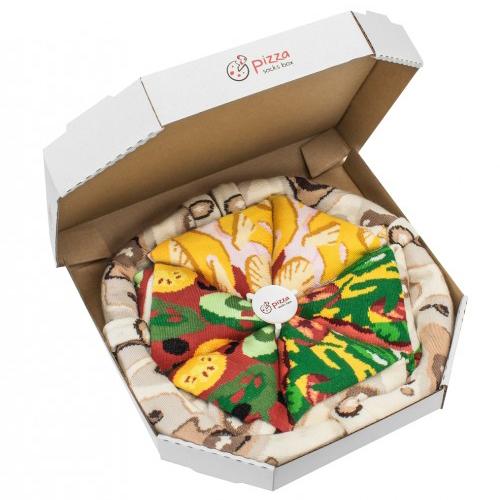 PIZZA SOCKS BOX 4 pairs MIX Hawaii Italian Vege