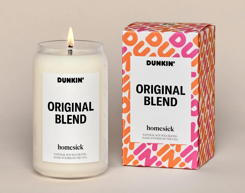 homesick dunkin candle original blend scent