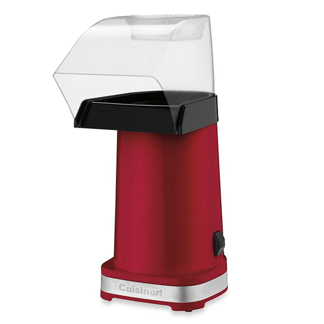 Cuisinart EasyPop Hot Air Popcorn Maker in Red with a white background