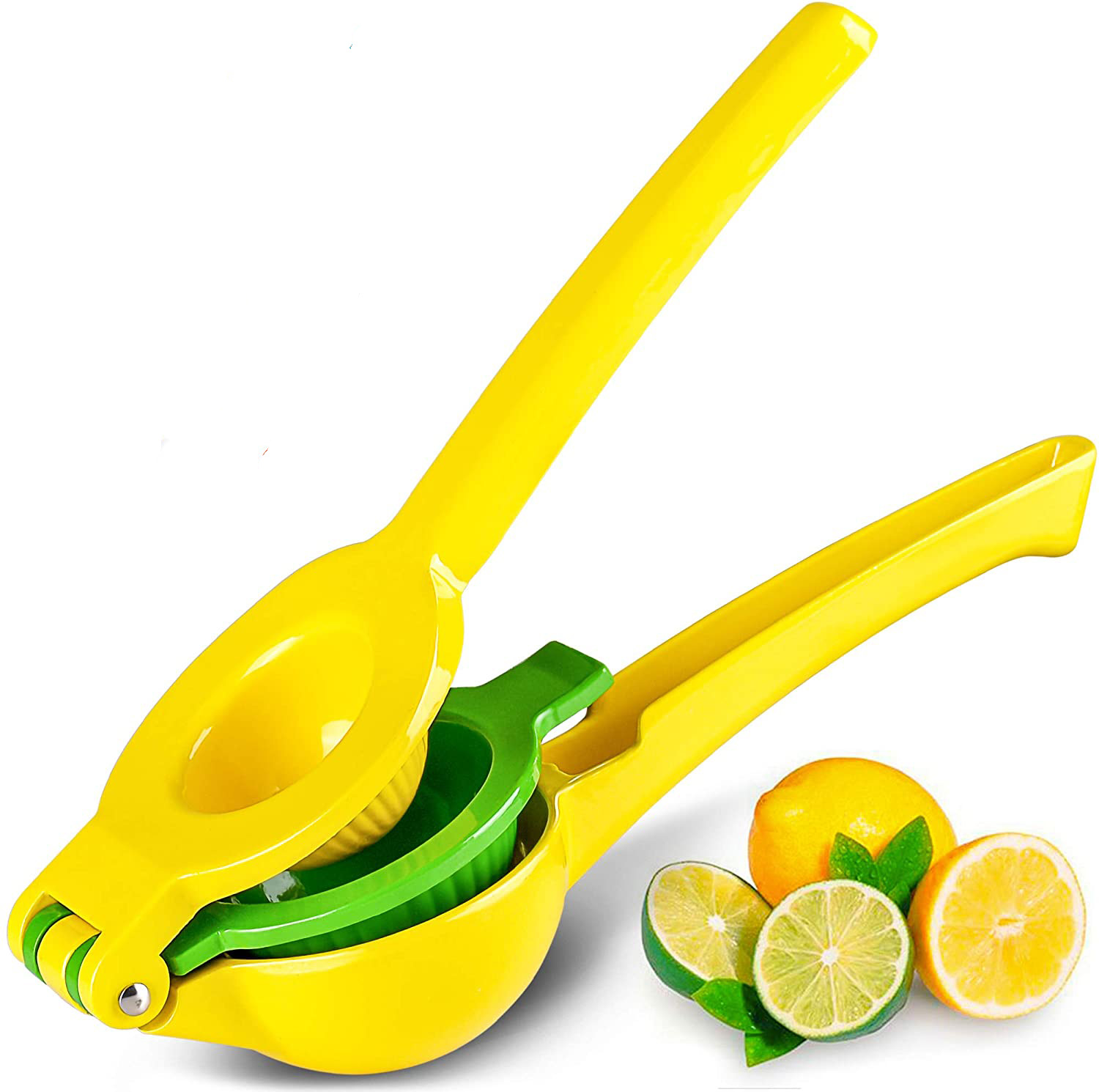 Zulay Premium Quality Squeezer with lemons and limes beside the squeeze