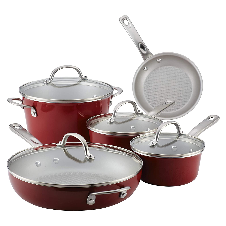 ayesha curry pots pans set