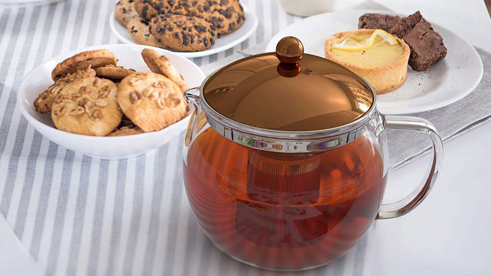 bonVIVO TEMPA Tea Infuser Removable Stainless Steel Strainer