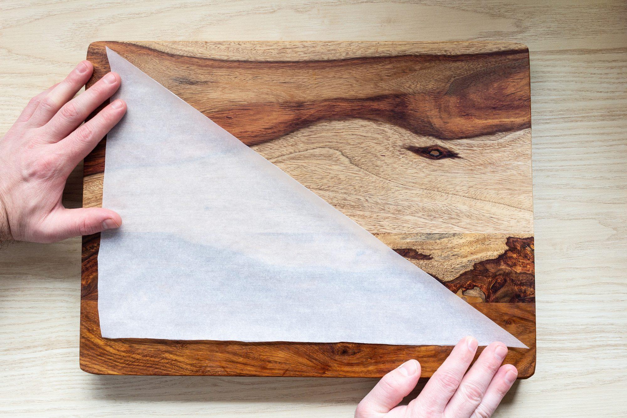 parchment paper triangle