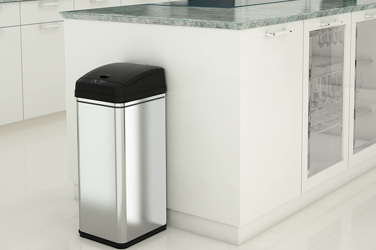 iTouchless 13 Gallon Automatic Trash Can