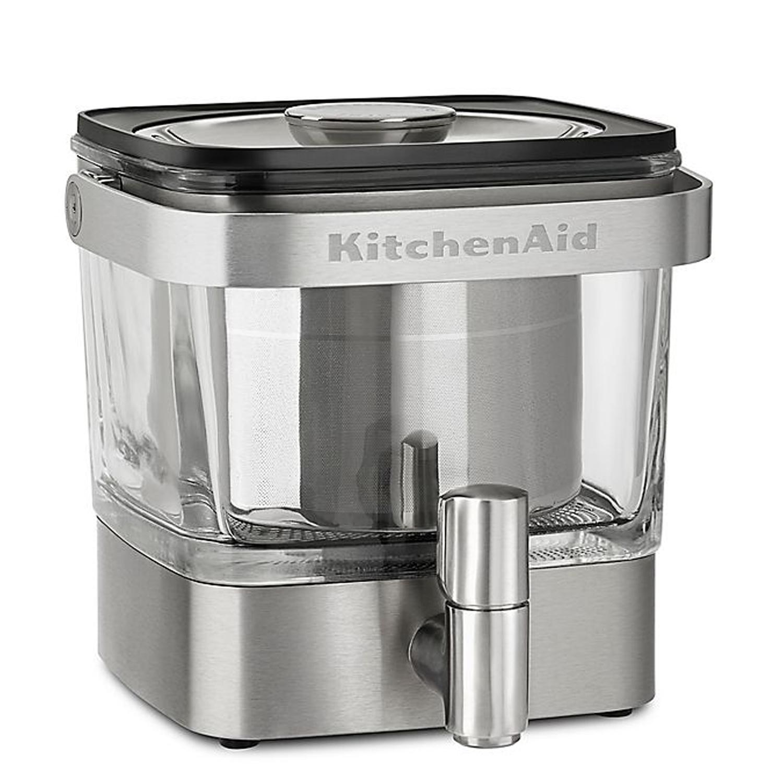 silver kitchenaid cold brew coffee maker