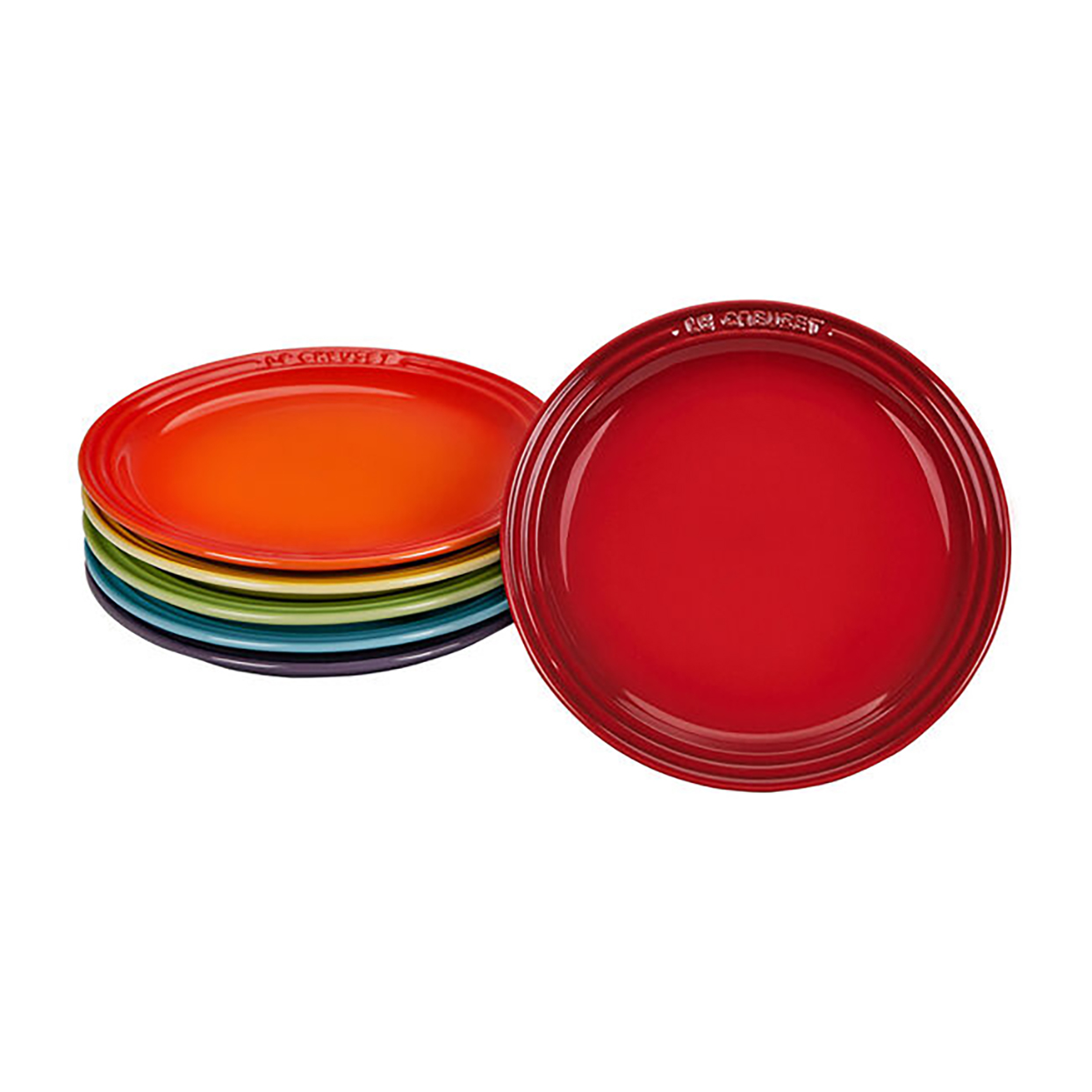 Le Creuset Rainbow Tea Plates