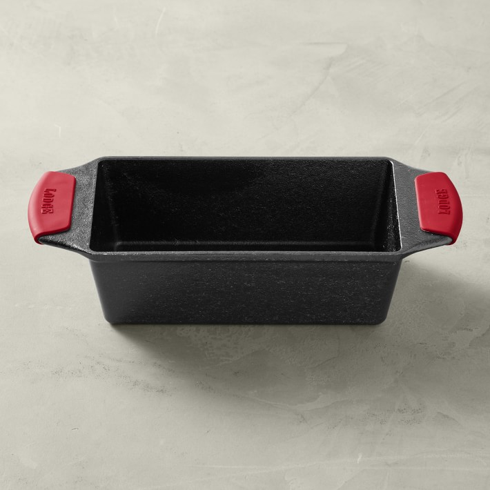 Lodge Bakeware Seasoned Cast Iron Loaf Pan with Grips