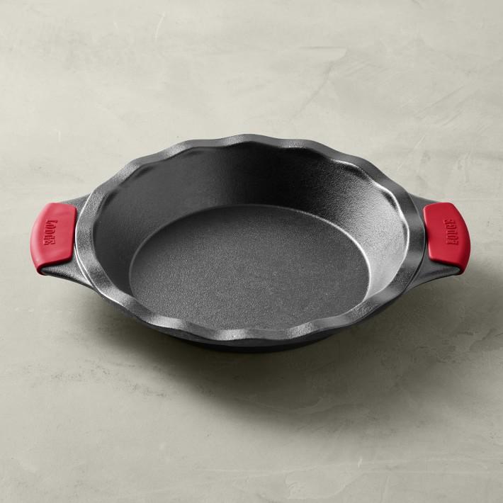Lodge Bakeware Seasoned Cast Iron Pie Pan with Grips