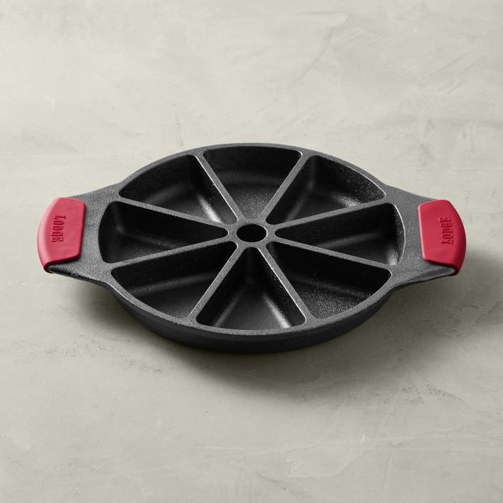 Lodge Bakeware Seasoned Cast Iron Wedge Pan with Grips