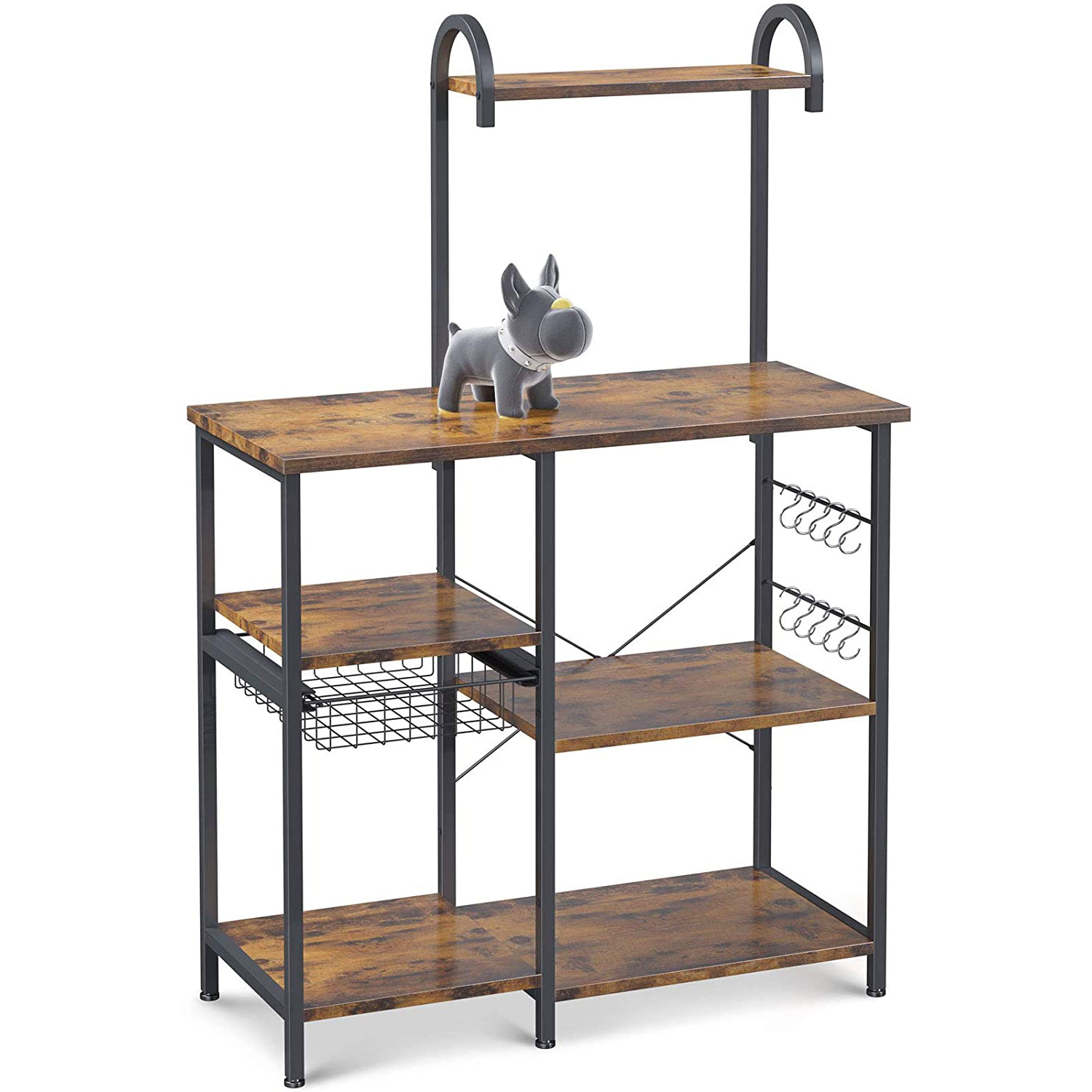 ODK Kitchen Bakers Rack Utility Storage Shelf Microwave Oven Stand 3-Tier