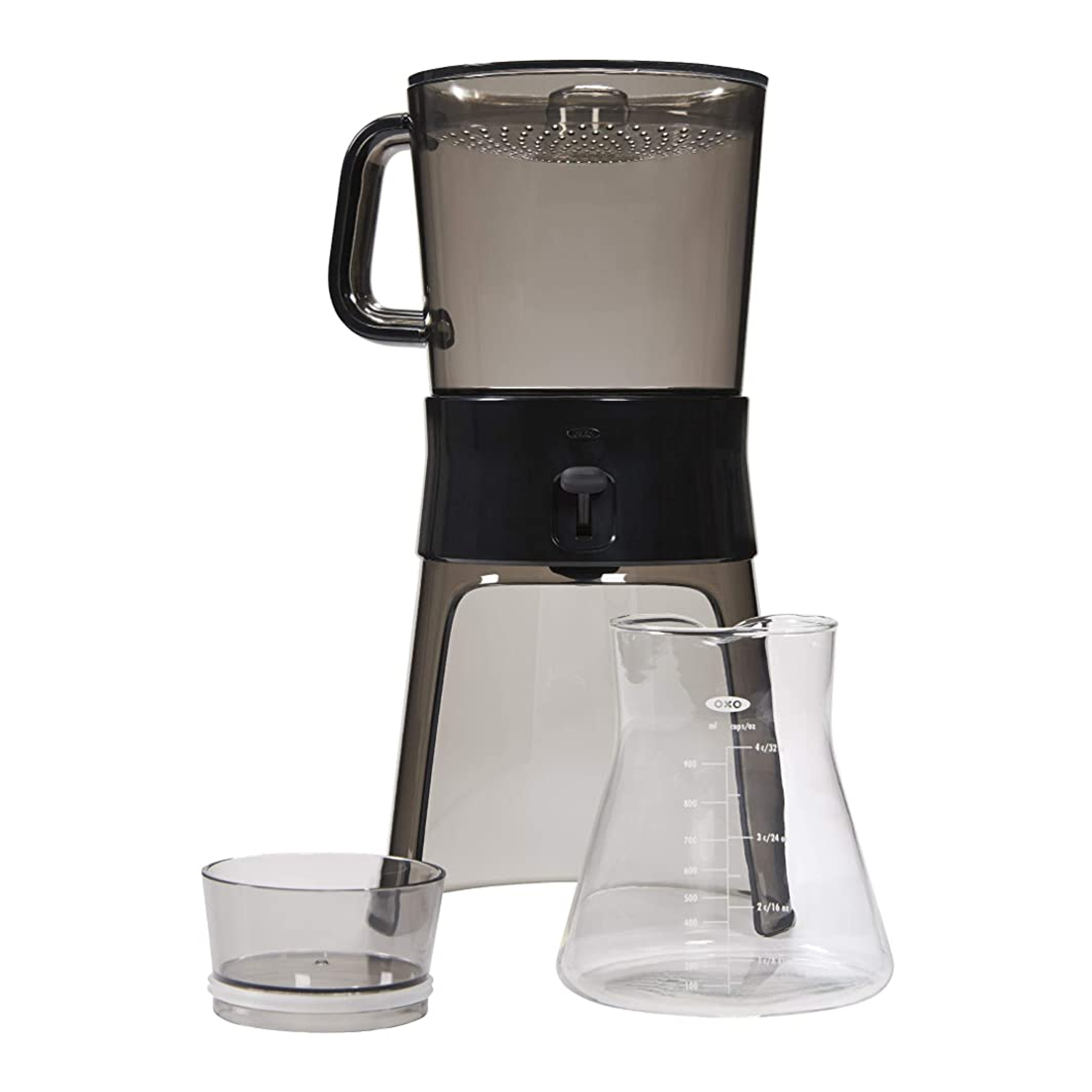 black and clear cold brew coffee maker by oxo