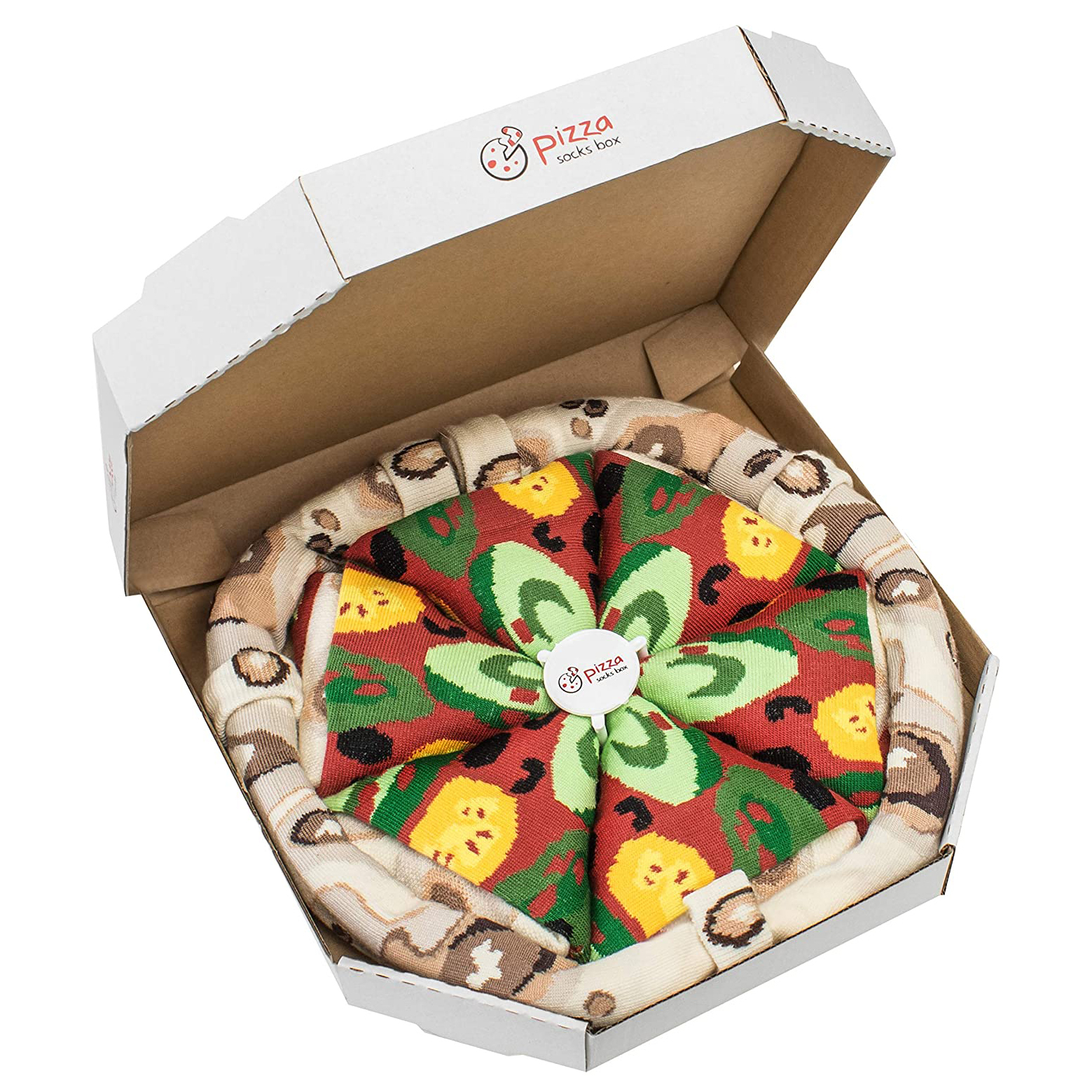 Vegetable Pizza Socks Box