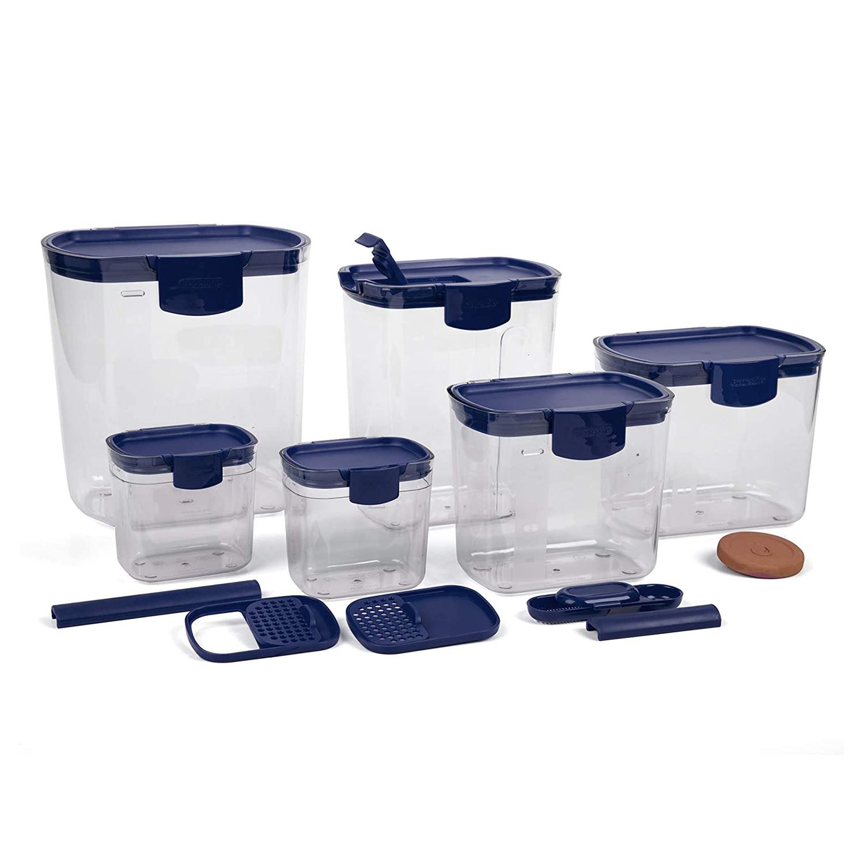 Progressive Prepworks ProKeeper 6 Piece Kitchen Clear Plastic Food Storage