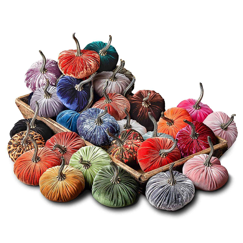 Small Velvet Pumpkins Create Your Own Set