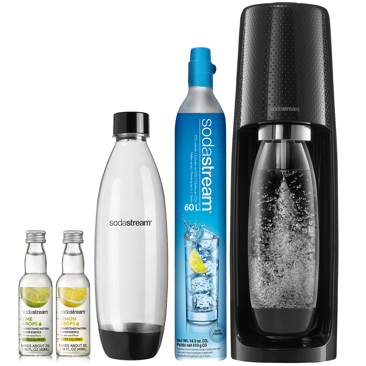 sodastream sparkling water maker black bundle
