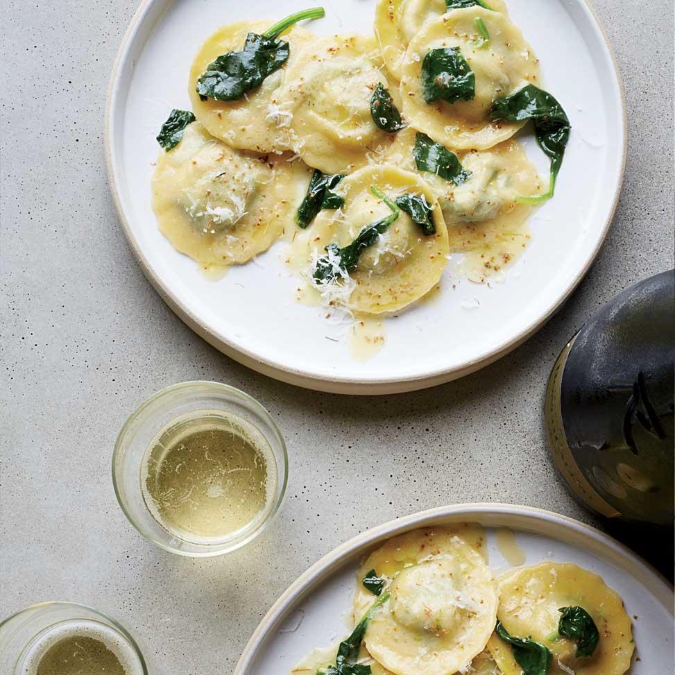 Spinach and Prosciutto Ravioli