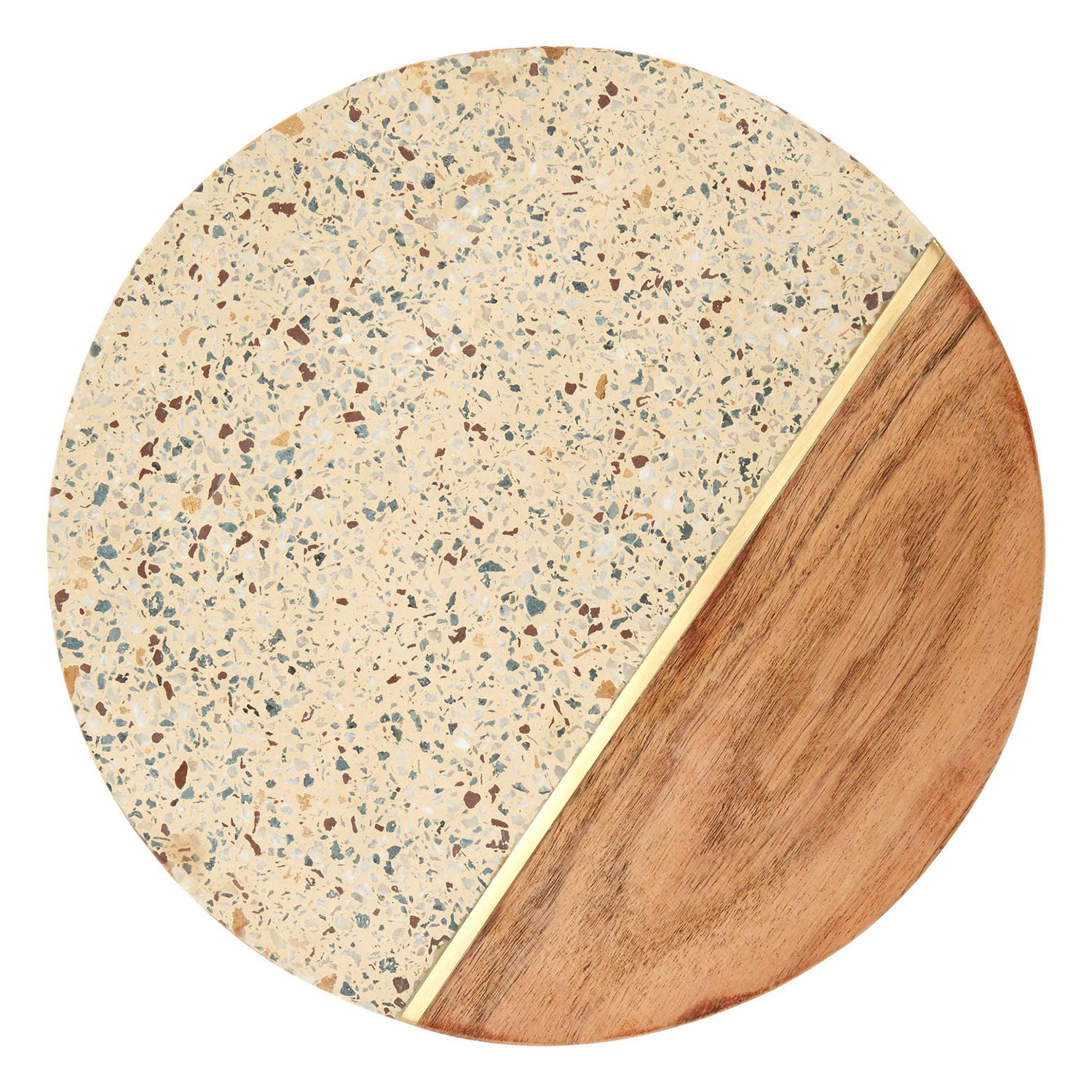 terrrazzo round serving board