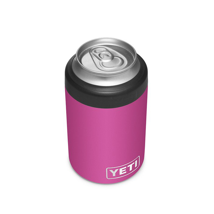 pink Yeti Rambler 12-Ounce Colster Can Insulator on a white background