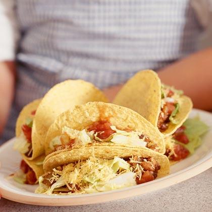 Three-Bean Tacos