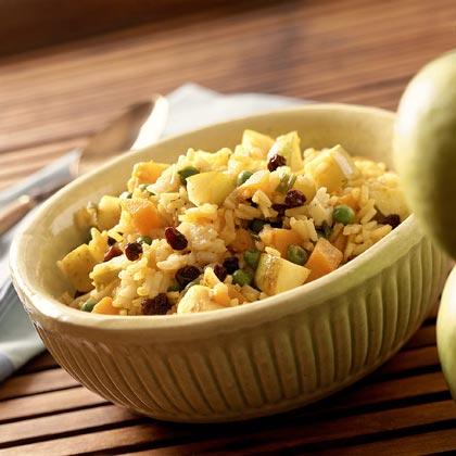 Curried Sweet Potato-Apple Pilaf