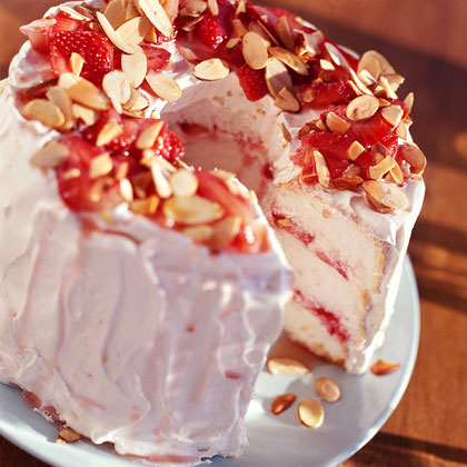 Strawberry Angel Cake