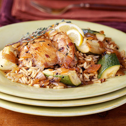 Chicken and Rice with Caramelized Onions