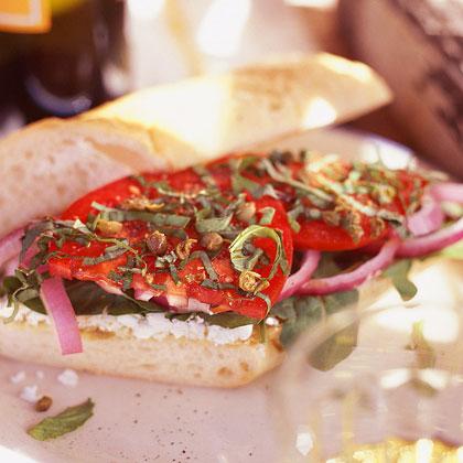 Mediterranean Goat-Cheese Sandwiches