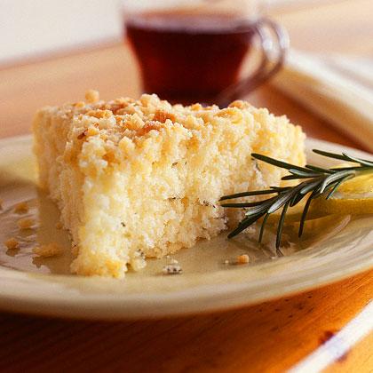 Lemon-Rosemary Crumb Cake