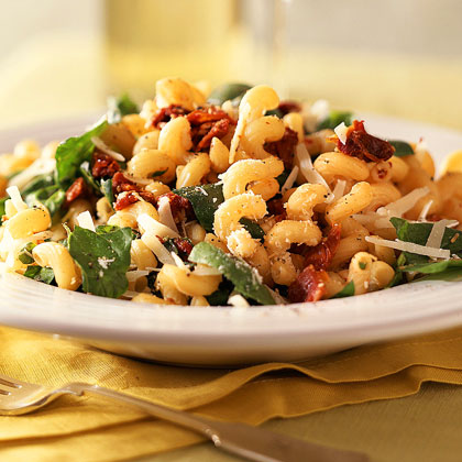 Pasta with Asiago Cheese and Spinach