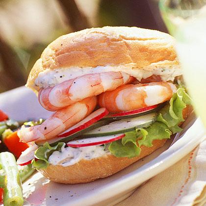 Cool-As-A-Cucumber Shrimp Sandwich
