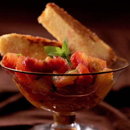 Citrus Medley with Pound Cake Triangles