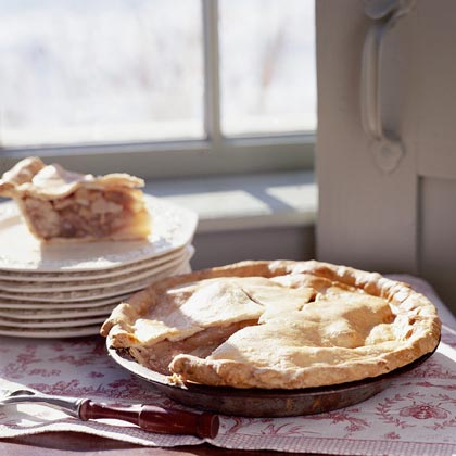 Pear, Walnut, and Maple Syrup Pie