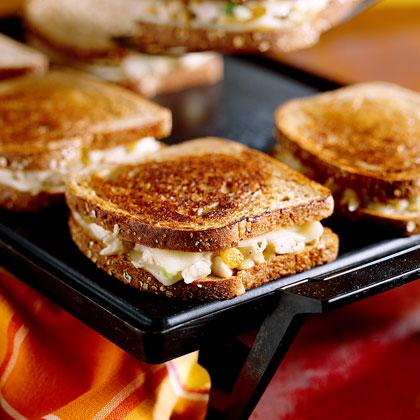 Grilled Chicken 'N' Cheese Sandwiches