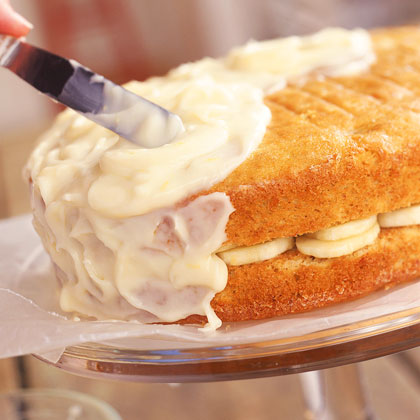 Banana Layer Cake with Lemon-Cream Cheese Frosting