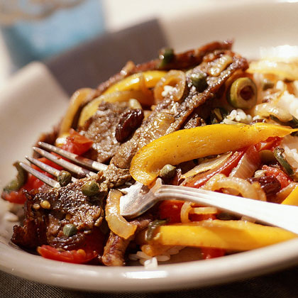Cuban-Style Beef and Peppers