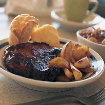 Barbecued Pork Chops