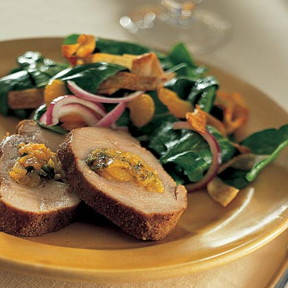 Apricot-Stuffed Spice-Rubbed Pork Loin