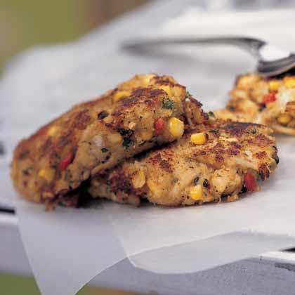 Curried Corn-Crab Cakes