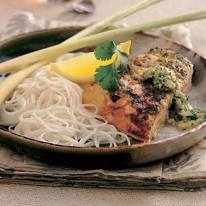 Malaysian Lime-Coconut Swordfish