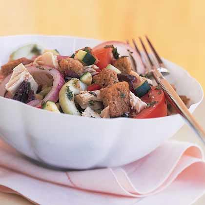 Vegetable Panzanella with Tuna