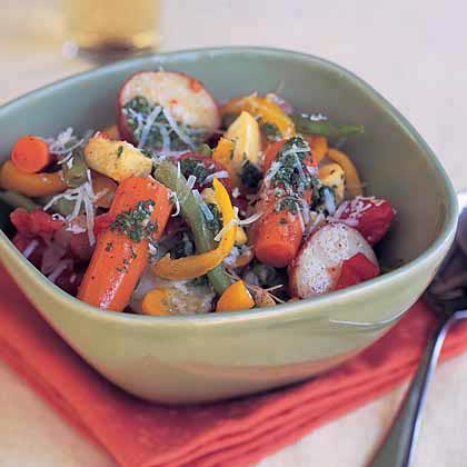 Summer Vegetable Stew with Basil Purée