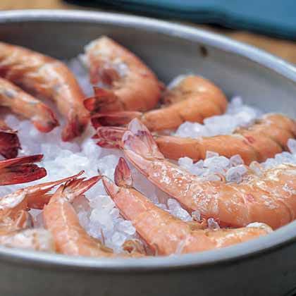 Roasted Shrimp with Honey-Pepper Vinaigrette