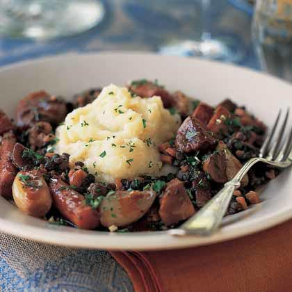 Braised Shallots and Fall Vegetables with Red Wine Sauce
