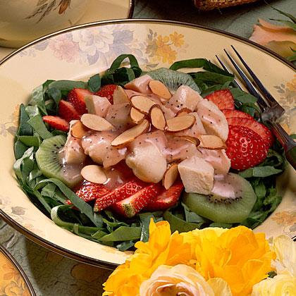 Chicken-Spinach-Strawberry Salad