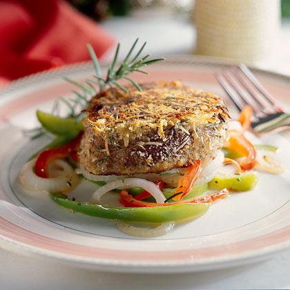 Beef Tenderloin Steaks with Peperonata