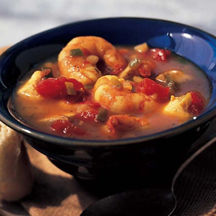 Orange-Saffron Shrimp-and-Snapper Stew